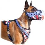 American Flag Leather Harness for Belgian Malinois