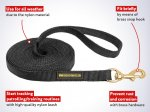 Nylon dog leash for patrolling and tracking
