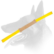 Belgian Malinois Soft Leather Pocket Bite Tug with Two Handles