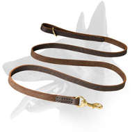 'Snake like' Belgian Malinois Leather Leash