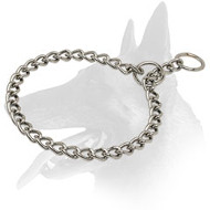 Chrome Plated Belgian Malinois Choke Collar