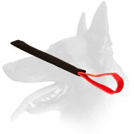 Belgian Malinois French Linen Puppy Bite Tug 1 3/4 inch x 12 inch with Handle