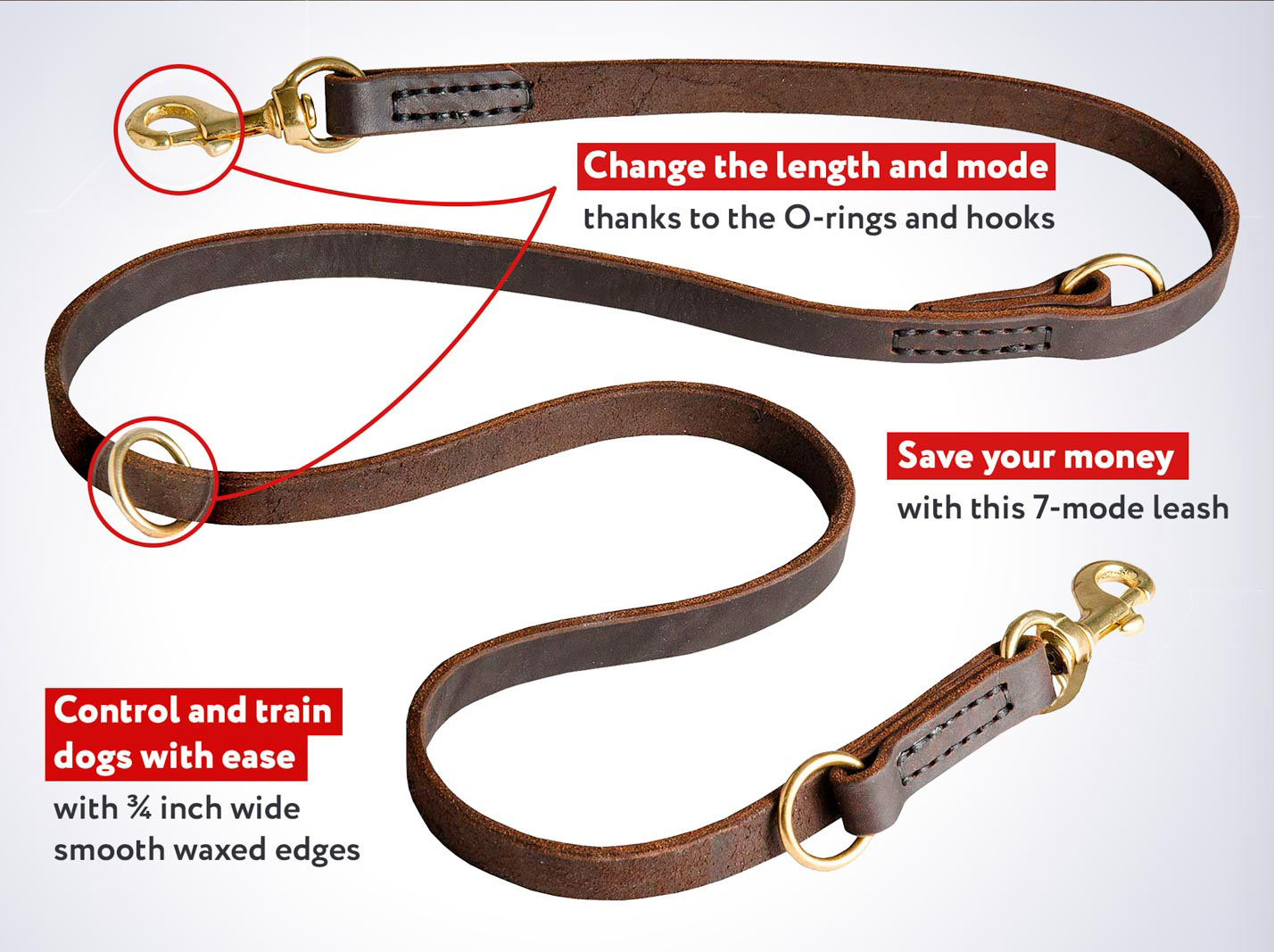 Multi Functional Belgian Malinois Leather Leash Perfect For Training