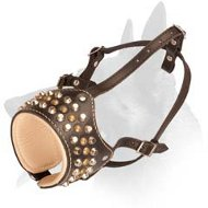 Nappa Padded Leather Muzzle for Belgian Malinois