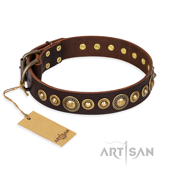 Strong leather collar crafted for your canine