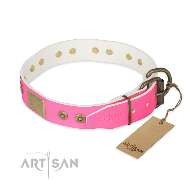 Durable buckle on easy wearing dog collar