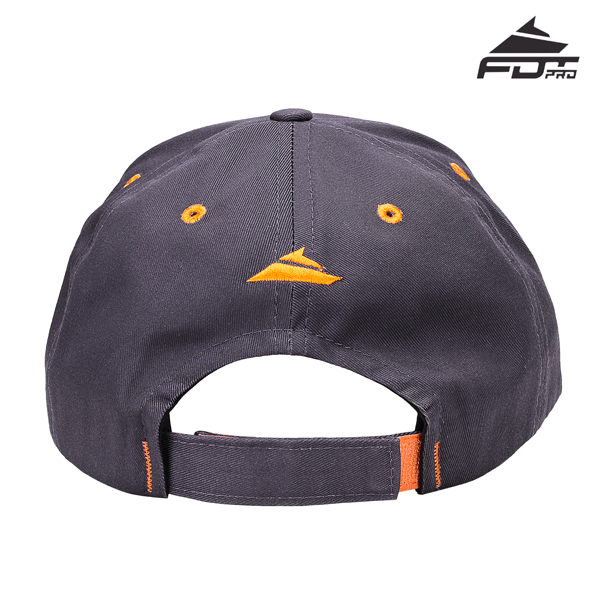 Dog Walking Easy to Adjust One-size Snapback Cap Dark Grey Color