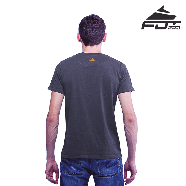 Men T-shirt of Dark Grey Color Professional for Dog Training