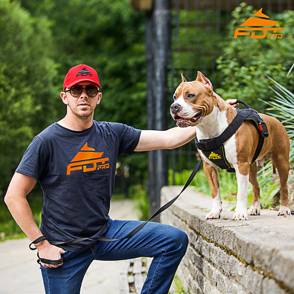 Men T-shirt of Top Quality Cotton with FDT Professional Logo for Dog Trainers