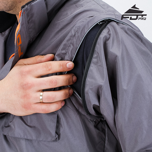 Top Rate Zipper on Sleeve for Pro Design Dog Tracking Jacket