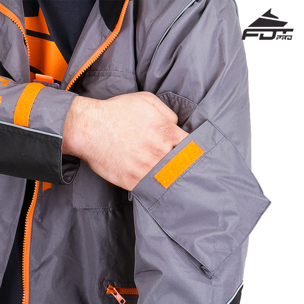 Grey Color FDT Professional Design Dog Tracking Jacket with Strong Sleeve Pocket