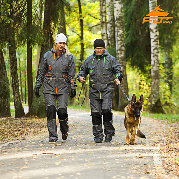 Unisex Reliable Dog Tracking Suit for Men and Women with Reflective Strap