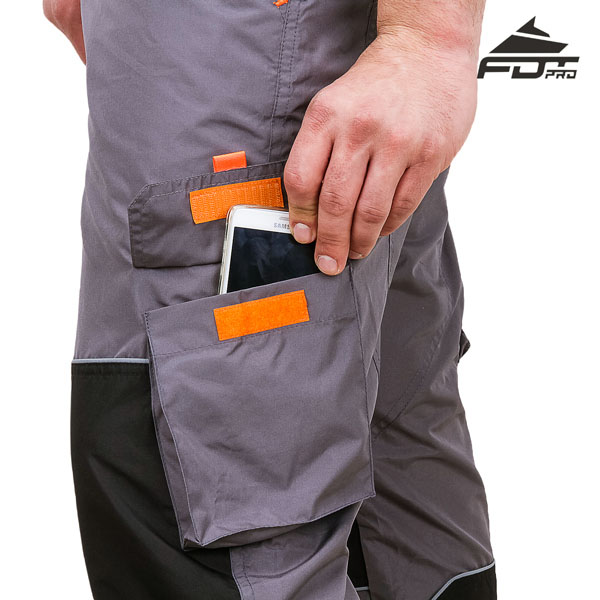 FDT Pro Design Dog Tracking Pants with Comfortable Velcro Side Pocket