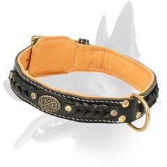 Belgian Malinois Leather Collar For Walking