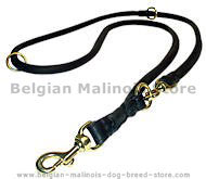 Rolled Dog Leash - Training Leather dog Leash for K9