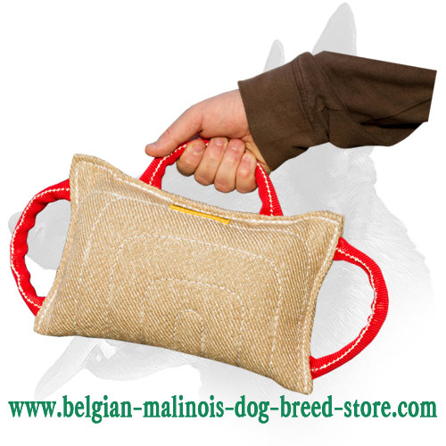 Heavy Stuffed Jute Bite Pad for Belgian Malinois