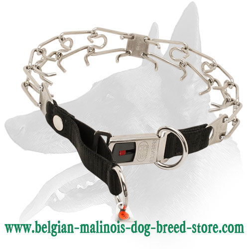 Herm Sprenger Belgian Malinois Collar with Nylon Loop
