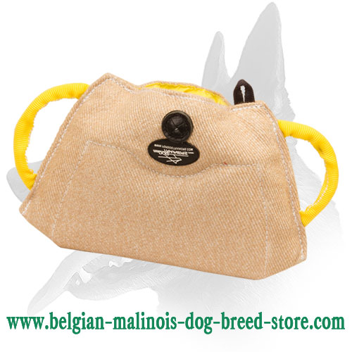 Belgian Malinois Puppy Bite Builder Made of Jute