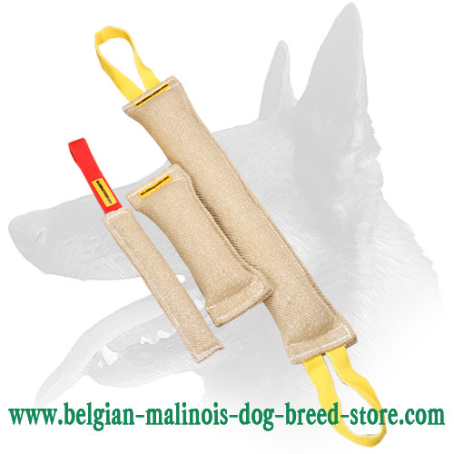 Jute Dog Bite Tugs Equipped with Handles