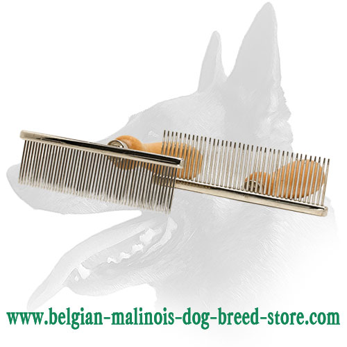 Belgian Malinois Metal Brush with Chrome Plated Teeth