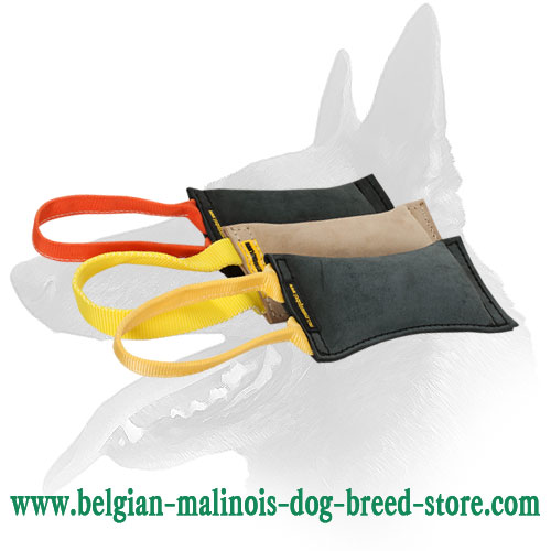 Leather Belgian Malinois Bite Tug for Puppy Training