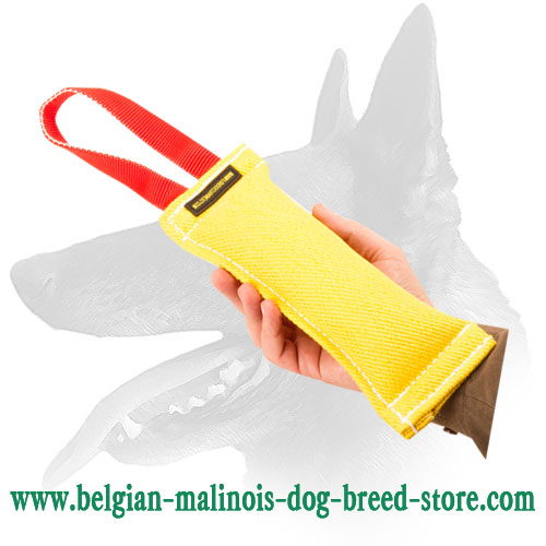French Linen Dog Bite Tug For Belgian Malinois With Handle