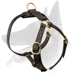 Durable Belgian Malinois Dog Leather Harness