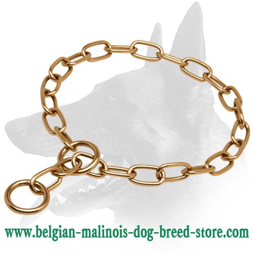 Belgian Malinois Curogan Fur Saver Choke Collar - 51541(67) 3mm Perfect for Training and Walking Choke Chain