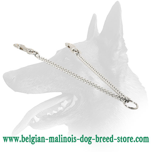 Belgian Malinois Chrome Plated Chain Coupler