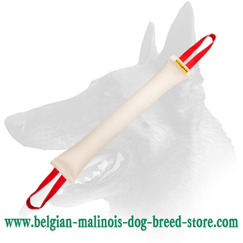 Belgian Malinois Huge Fire Hose Dog Bite Tug with 2 Handles