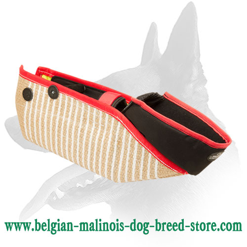 Strong Belgian Malinois Jute Short Bite Sleeve