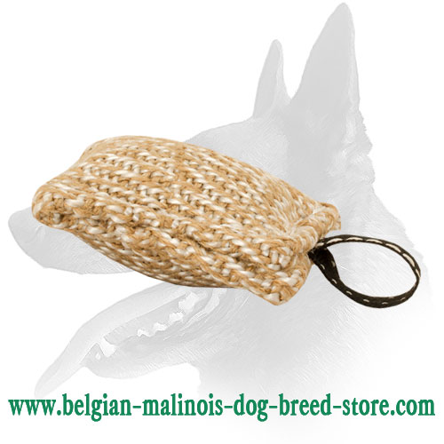 New Belgian Malinois Jute Bite Tug with Small Loop