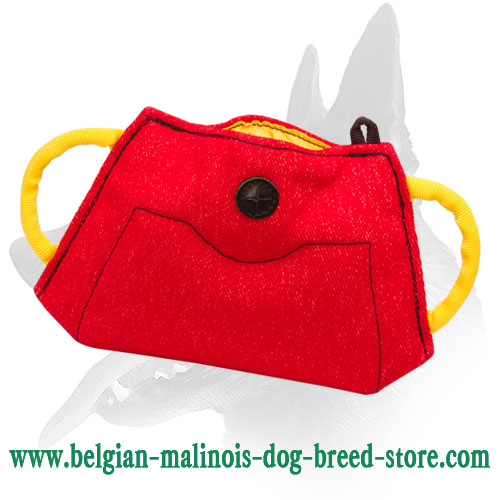 New Belgian Malinois Puppy and Young Dog Bite Builder Made of French Linen