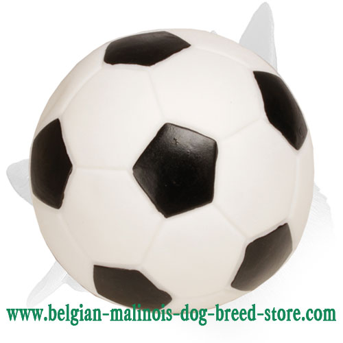 'Soccer Fan' Belgian Malinois Rubber Toy