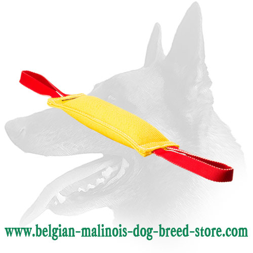 Belgian Malinois Puppy Tug Made of French Linen - 12 inch long
