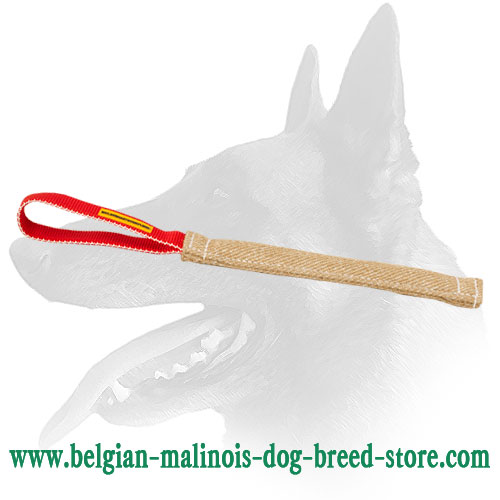 Belgian Malinois Jute Pocket Toy with Loop-like Handle