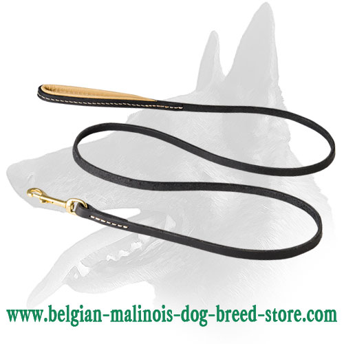 'Comfy Control' Belgian Malinois Leather Leash