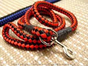 Cord nylon dog leash for large dogs- dog lead for Belgian malinois
