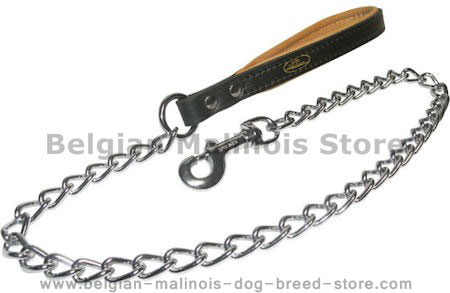 Have Chain Dog Leash for Belgian Malinois-Chain LEAD