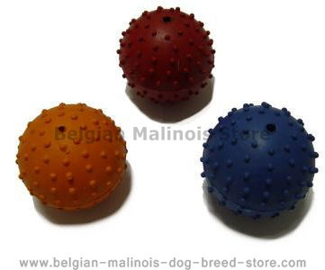 Rubber Squeaky Ball Dog Toy 2 3/8''(6cm)-Belgian Malinois Dog Toys