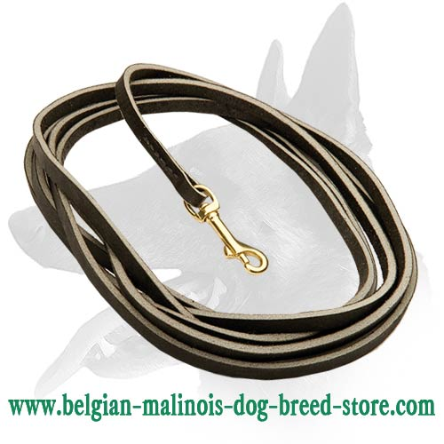 Handmade Malinois Leather Leash