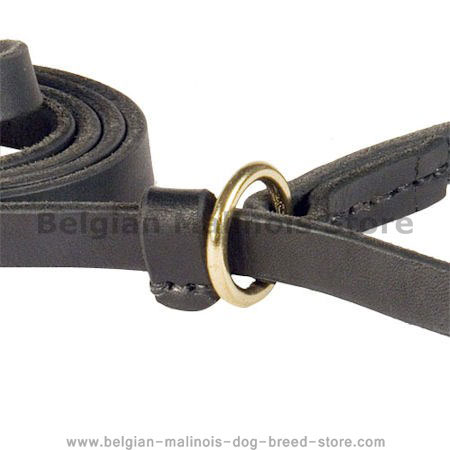 Leather Slip Lead 6 FT on 1/2'' for Belgian Malinois