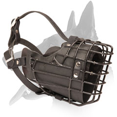 Muzzle for Belgian Malinois breed super durable