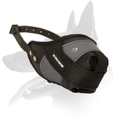 Belgian Malinois muzzle leather nylon padded nose part