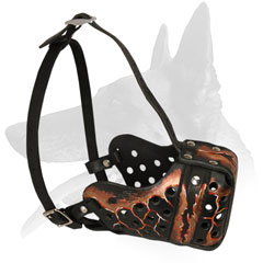 Belgian Malinois Leather Muzzle Absolute Control